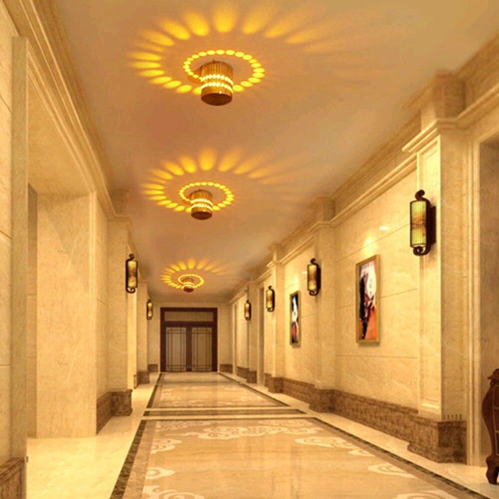 Modern LED Ceiling Light 3W RGB Wall Sconce Porch Lamp Surface Mount Flush Balcony Corridors Lighting Fixture Living Room Decor
