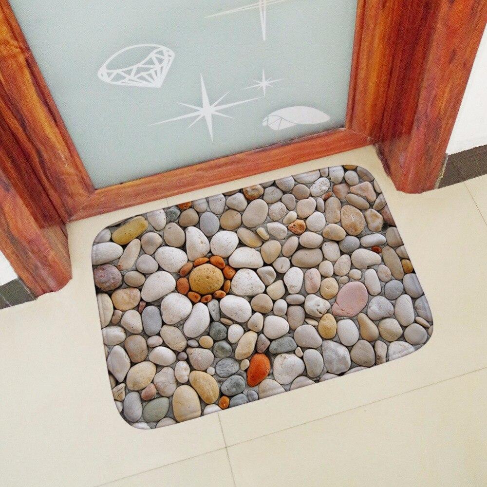MDCT Cobblestone Pattern Bathroom Mats Absorbent Suede Hallway Doorway  Kitchen Floor Mats Outdoor Entrance Door Mats Area Rugs In Mat From Home U0026  Garden On ...