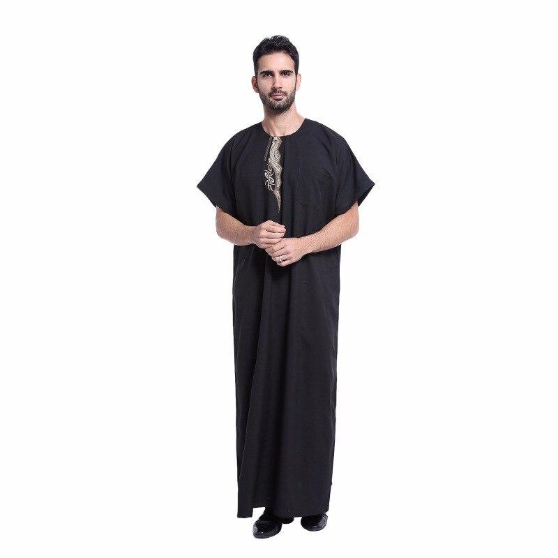 ⊰Hombres musulmanes Ropa islámica saudita Bordado abaya más tamaño ...