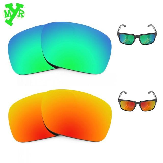 Mry fuego rojo y verde esmeralda 2 par polarizadas lentes de reemplazo para  OAKLEY sol HOLBROOK 597f17b7f7