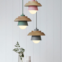 Nordic Designer LED Art Wood Pendant Light Fixtures Modern Iron Lamps Living Room Aisle Corridor Deco Lighting Luminaire