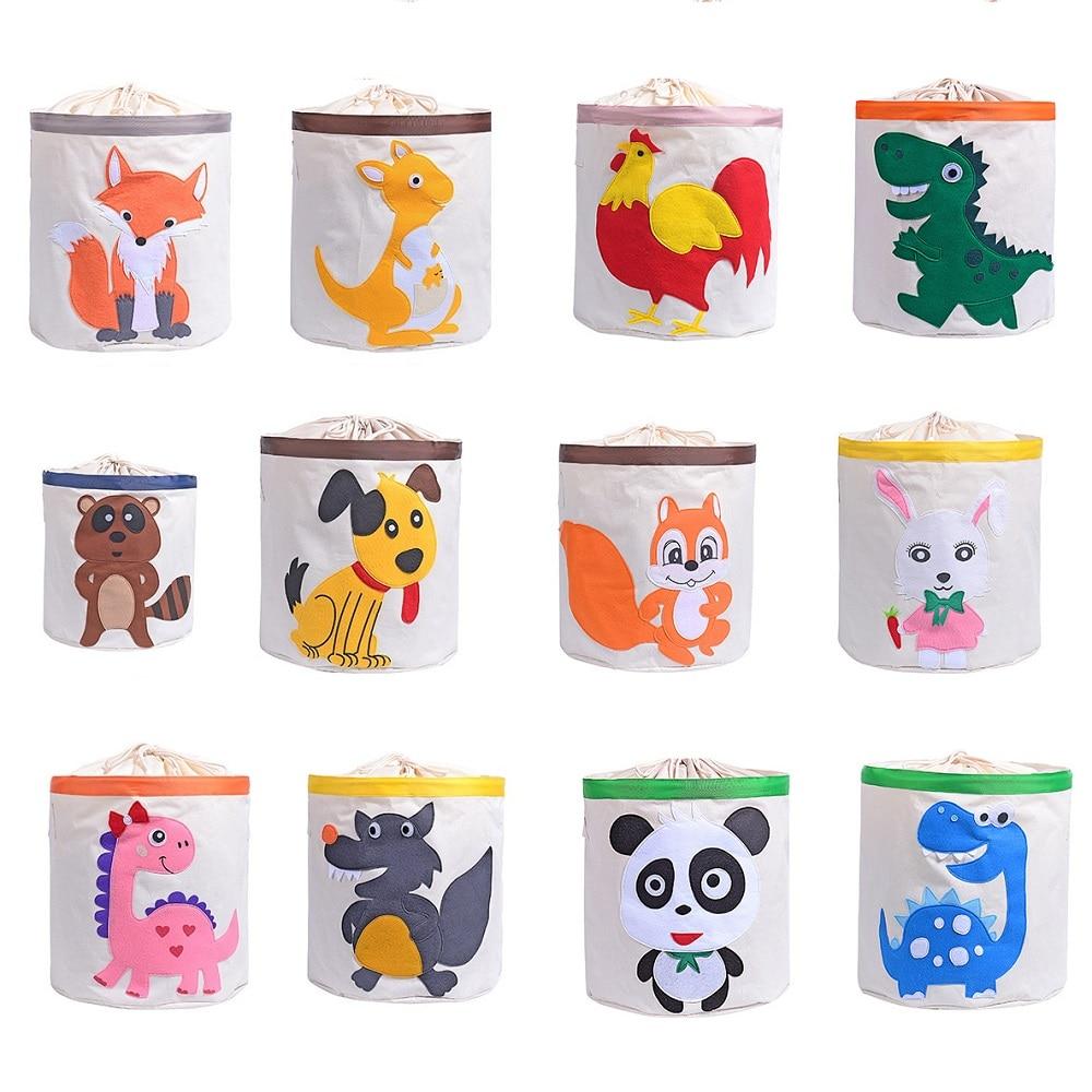 Cute Animal Collapsible Toy Storage Organizer Folding: Large Folding Cute Cartoon Animal Storage Bag Kids Toys