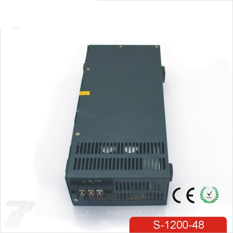 цена на CE Soro 110V INPUT 1200W 48v 25A power supply Single Output Switching power supply for LED Strip light AC to DC UPS ac-dc