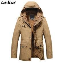 2016 neue LetsKeep militärjacke männer Oberbekleidung taktische mit kapuze jacken herren gold fleece windjacke mäntel plus größe 6XL, MA233