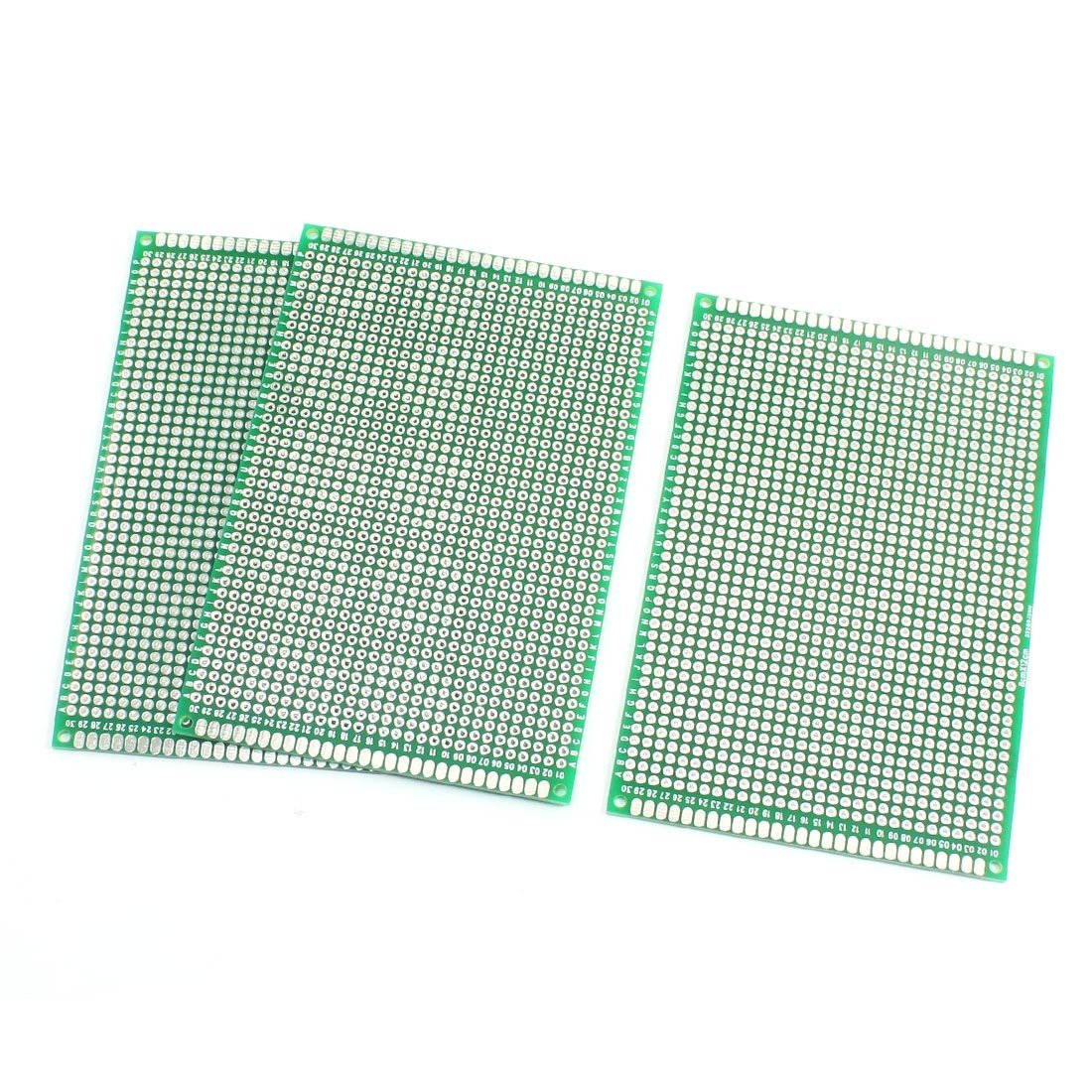 3Pcs Double Side Protoboard Prototype Printed Circuit Board 8cm x 12cm