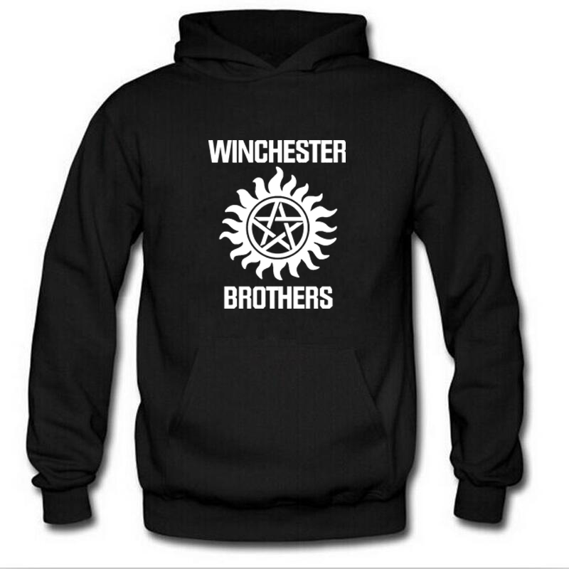 Supernatural Hoodie Men Winchester Bros Mens Hoodies Winter Autumn Print Fleece Hooded Sweatshirt Casual Fashion Tracksuit