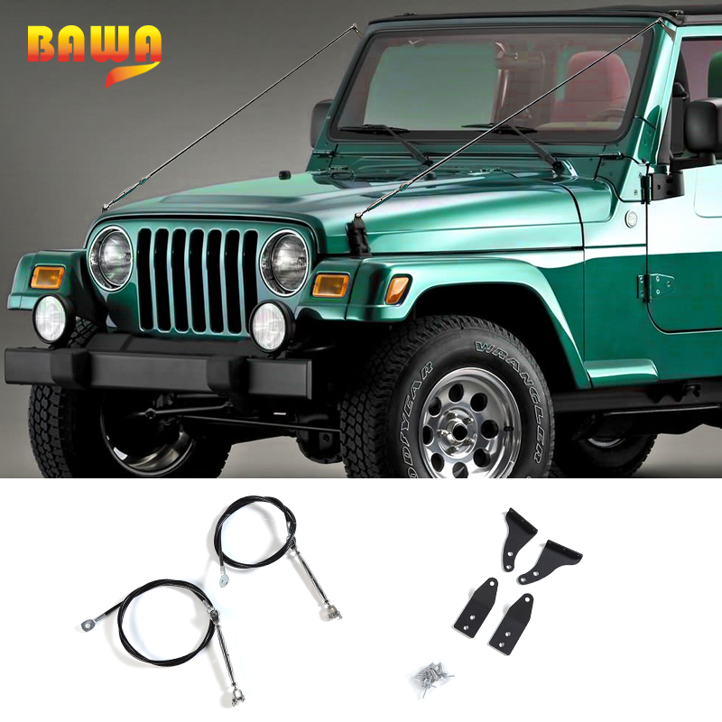 BAWA Protective Frames for Jeep Wrangler TJ 1997 2006 Removing Barriers Rope Accessories for Jeep Wrangler