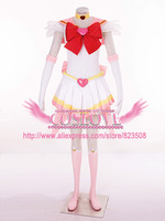 High Quality Custom Made Pink Chibiusa 3th Cosplay Costume From Sailor Moon Anime For Christmas Plus