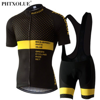 Phtxolue Cycling Clothing Cycling Sets Bike Clothing Breathable Men Bicycle Wear Spring Sunmer Short Sleeve Cycling