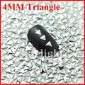 2014 novo design para decoração de unhas 1000 unidades/pacote 4 MM triângulo cor lasca strass para unhas