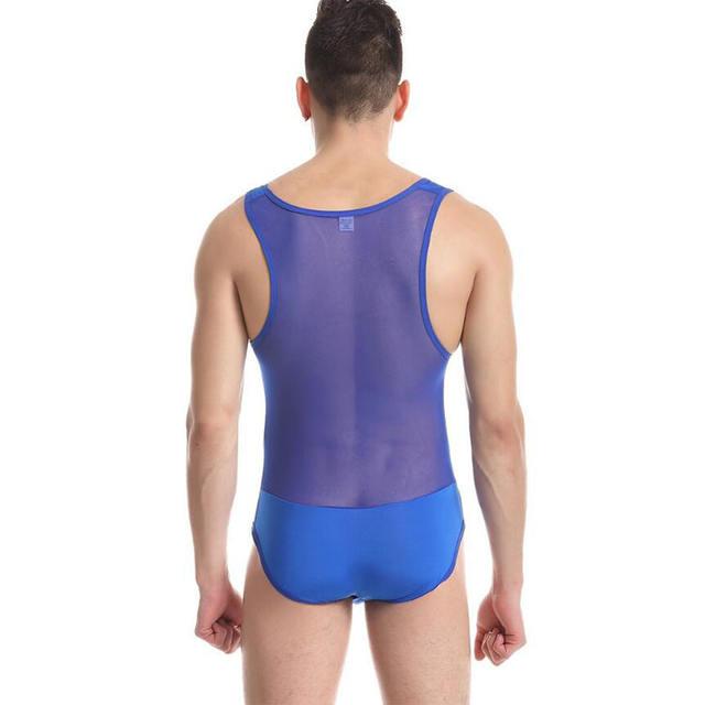 KWAN.Z men's bodysuit shaper high elastic fabric corsets vest ica skil mesh breathable body shaper men tshirt tights for men