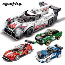City Super Racers compatible lgoed Speed Champions Racing Car model Building Blocks Bricks Kids Toys sets kits childen gift set