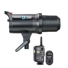 Godox de300 300 w 컴팩트 스튜디오 플래시 라이트 스트로브 조명 램프 헤드 카메라 플래시 monolight ft 16 송신기 FTR 16 수신기
