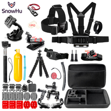 SnowHu for Sport camera Accessories set SJCAM SJ4000 go pro hero 7 6 5  mount xiaomi yi 4k eken h9 GS84