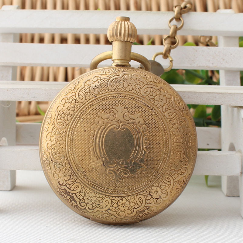 где купить Authentic Full Copper Antique Pocket Watch Men Retro Manual Winding Mechanical Table Individuality Simple Birthday Gifts 3JX84 по лучшей цене