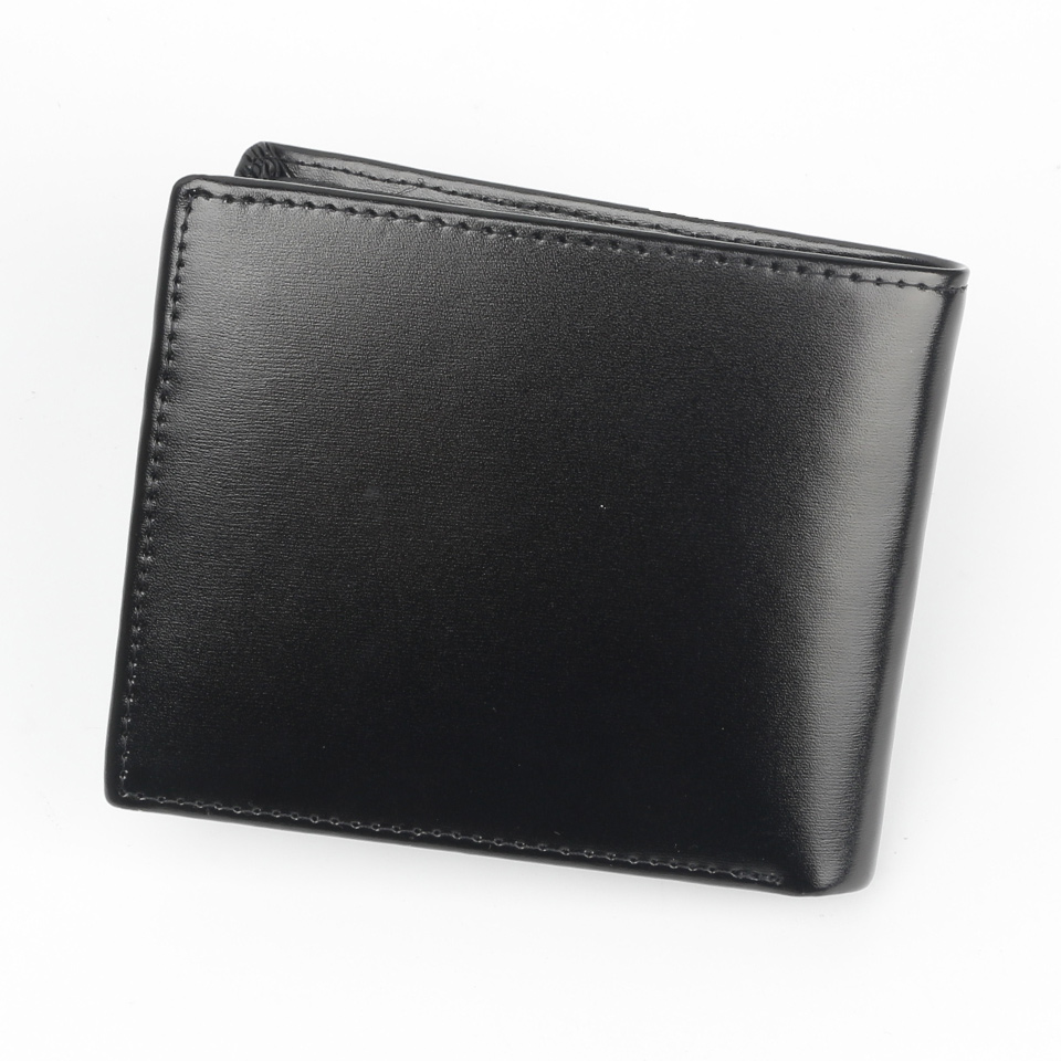 Image 3 - Luxury brand wallet Men Genuine Leather Cow Wallets MMBB M Size Short and Long Male Moneyclip Holder Purse Option-in Wallets from Luggage & Bags