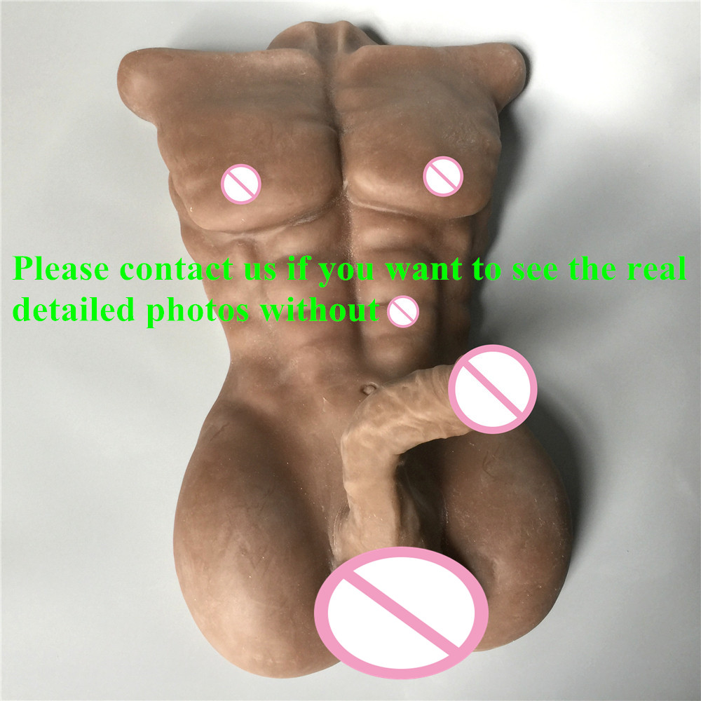 Realistic sex silicone life size torso with 18cm penis and anus hole male sex doll for women or gayRealistic sex silicone life size torso with 18cm penis and anus hole male sex doll for women or gay