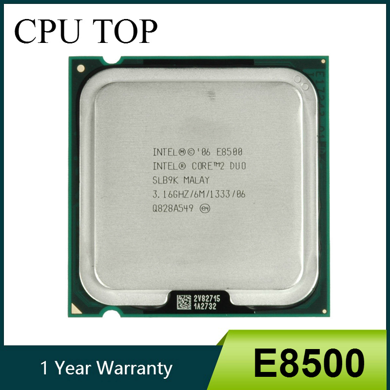 Intel Core 2 Duo E8500 Processor SLB9K SLAPK 3.16GHz 6MB 1333MHz Socket 775 cpu