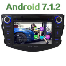 "7"" HD Android 7.1 2GB RAM Quad Core 3G/4G DAB+ Wifi Multimedia Car DVD Player Stereo Radio GPS Screen for Toyota RAV4 2006-2012"