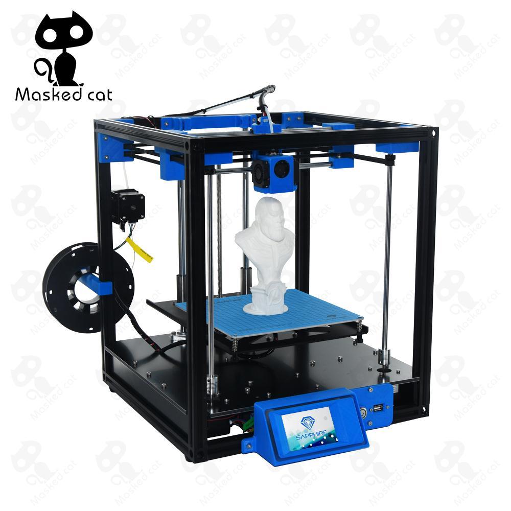 2018 High-precision Sapphire Aluminium Profile Frame 3D Printer Print DIY Kit Area CoreXY System Big Area 200*200mm area