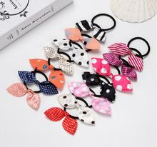 10PCS Hot Sale Girls Floral Print Elastic Hair Band Scarf Bohemian Hairband Bow Rubber Ropes Scrunchie Women Ties