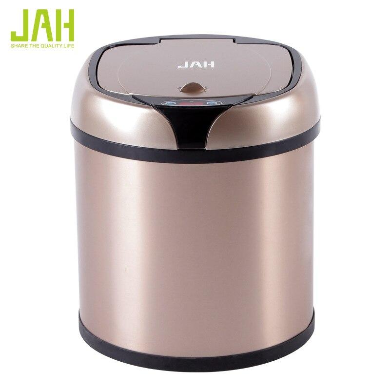 Новая мода 6L 8L 12L индуктивной Тип мусорный бак Smart Сенсор автоматический Кухня и Туалет мусорное ведро Нержавеющаясталь мусорное ведро