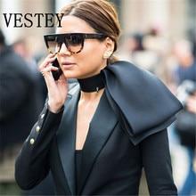 Vestey Flat Top Рамки Защита от солнца Очки кошачий глаз Солнцезащитные очки для женщин Для женщин люксовый бренд классический Для мужчин модные очки Защита от солнца Очки UV400 Óculos