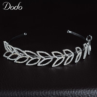 DODO Unique Design Elegant Crystal Tiara For Bridal Headpiece Queen Crown Hair Accessories Pageant Women Wedding