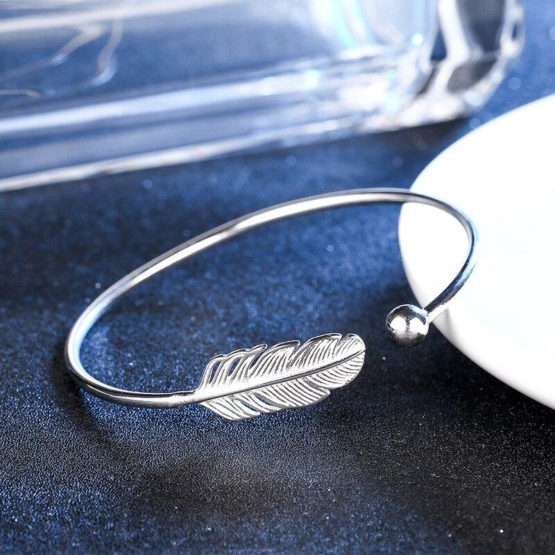 1Pcs Fashion Jewelry Bohemia Vintage Feather Bangle For Women