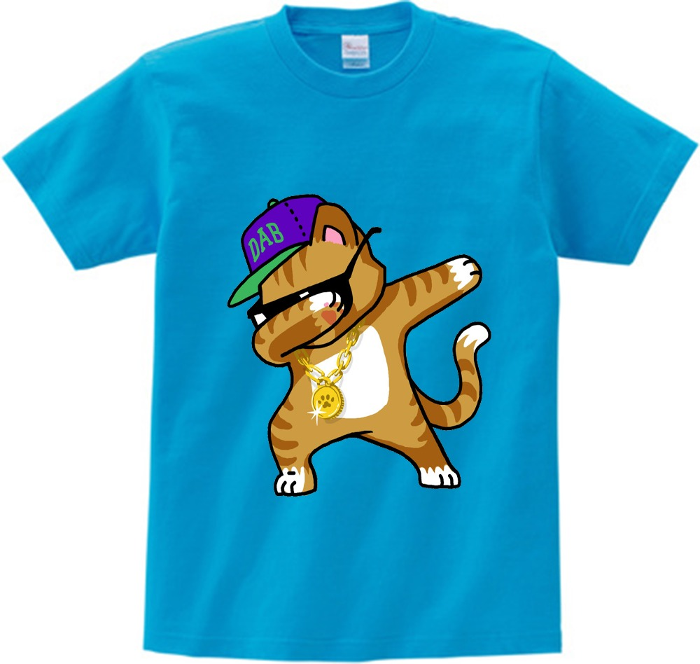 Funny Cartoon Images Of Boys us $6.83 40% off|children summer t shirt dabbing cat santa claus funny  cartoon short sleeve t shirts for boys girls kids dab dance tee 2 15  years-in