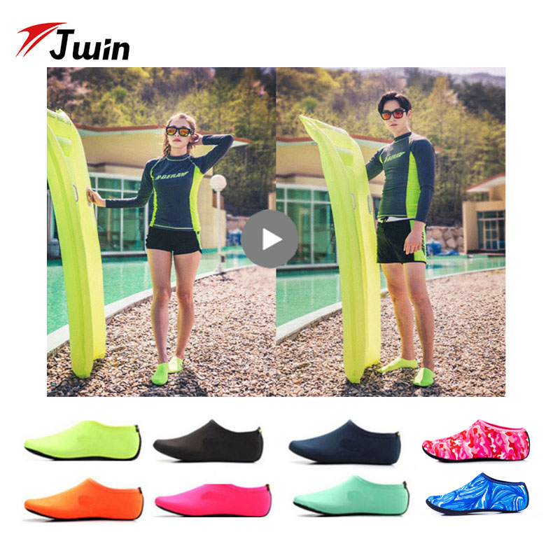 Diving Fins Beach Swimming Shoes Socks Aqua Flippers Water Socks Kids Women Men's Sports Flipper Socks