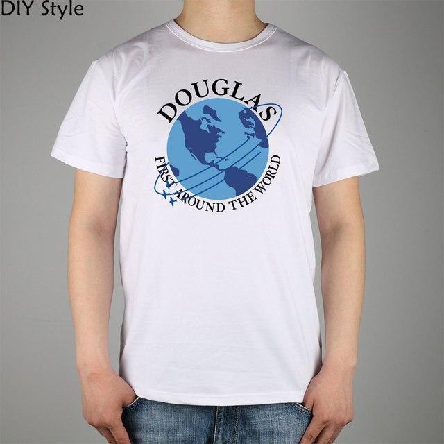 Douglas Aircraft Company Airline t-shirt Cotton Lycra Top 10844 Fashion Brand T Shirt Men New Diy Style High Quality