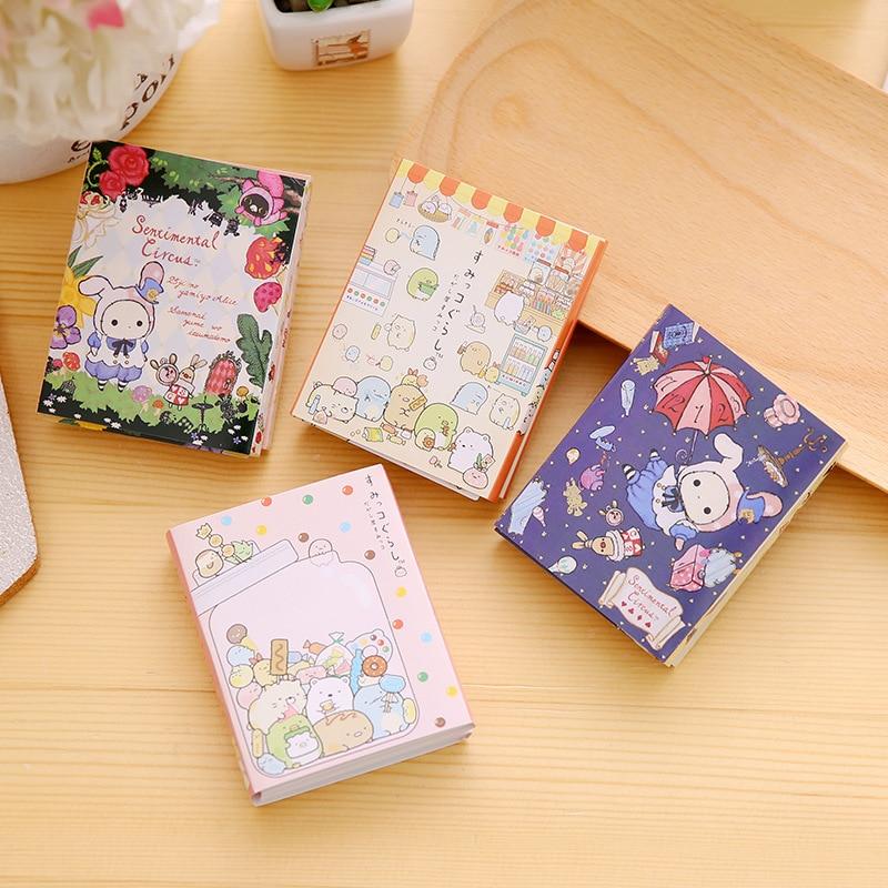 8 sets/1 lot Creative Corner creature Memo Pad Sticky Notes Escolar Papelaria School Supply Bookmark Post it Label