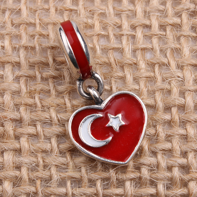 pandora turkish flag charm