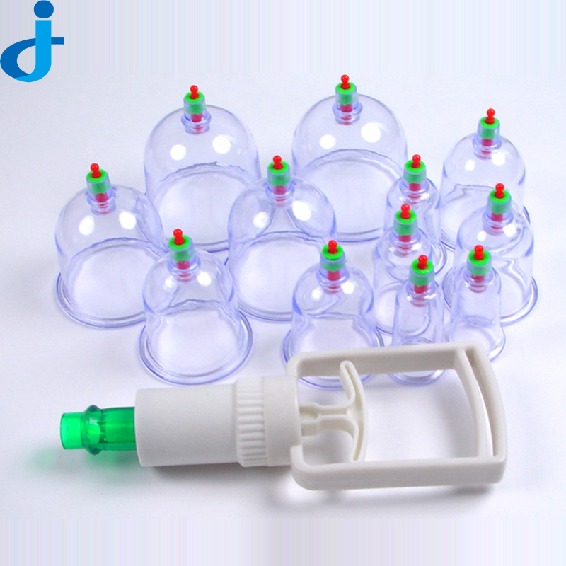 12 PCS Vacuum Cupping Set Health font b Care b font Vacuum Cupping Portable font b