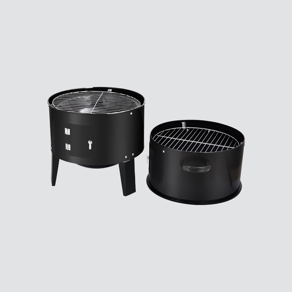 Image 2 - New Model Innovative Metal 3 in 1 BBQ Grill Roaster Steamer Barbecue Grill Portable Outdoor Camping Charcoal Stove grillBBQ Grills   -