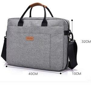 Image 5 - Maletín de negocios de lona para hombre, bandolera de viaje para oficina, bolso grande para ordenador, BOLSA DE TRABAJO, para viaje de negocios, para ordenador portátil