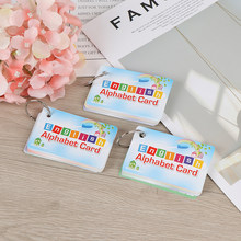 Learning Educational Toy For Children Kid Gift With Buckle English Letters Flash Card Handwritten Montessori Early Development(China)