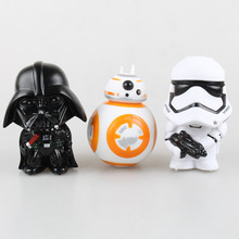 цены Star Wars Figure 10cm Anime Figure doll Action Force Awakens Black Series Darth Vader Stormtrooper toys model For children gifts
