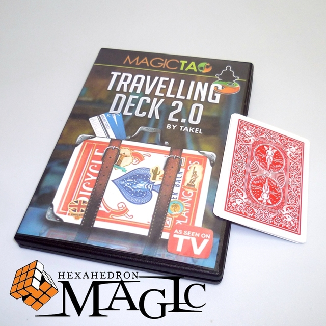 Travelling Deck 2.0 with gimmick card by Takel and magic tao  close-up street stage card magic tricks products toys