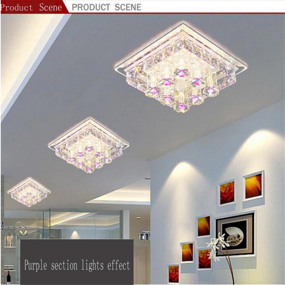 Moderne Led Deckenleuchte Lampe 12 Watt Kristall Lamparas 220 V Deckenleuchten Luminarias Fr Wohnzimmer
