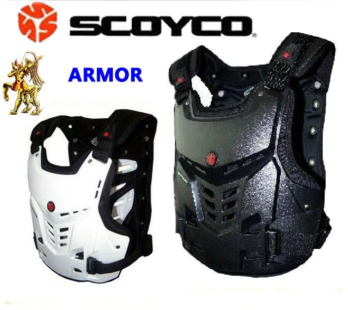 Ignifuge blanc Moto armure de corps veste supérieure Moto garde de protection Moto cycliste engrenages Scoyco AM05