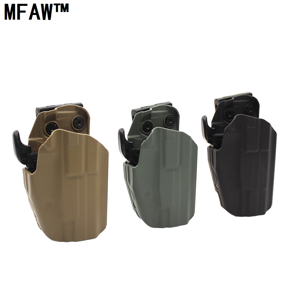 ∞Pistola táctica accesorios cinturón pistolera para Glock 17 20 21 22 37 y  otros caza tiro - a78
