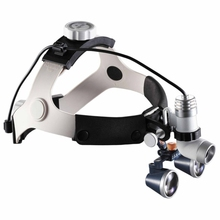 2.5X/3.5X Galileo Glasses Dental Magnifier Medical Surgical Dental Loupes with Headlight Surgery Operation Magnifying Glass