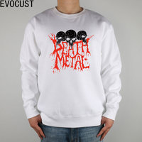FDK DEATH METAL Men Sweatshirts Thick Combed Cotton