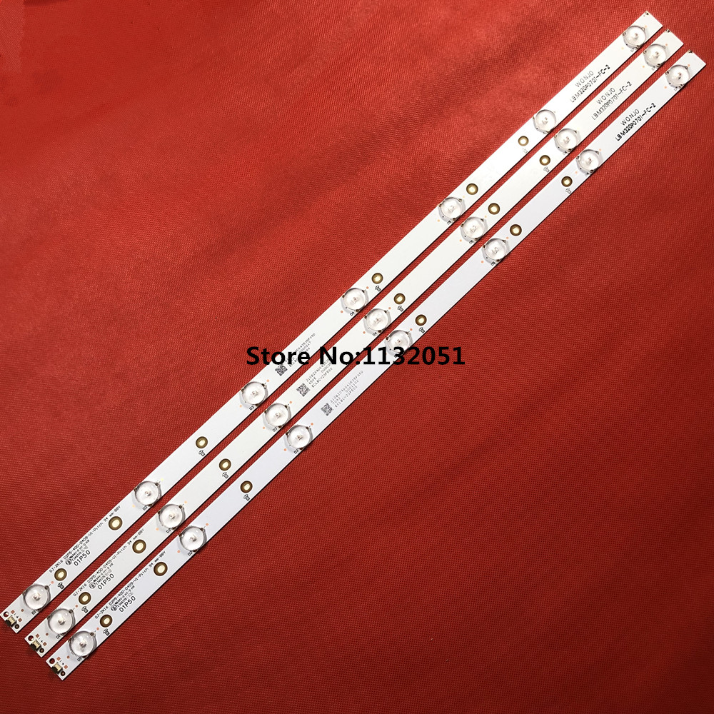 1set=3pcs LBM320P0701-FC-2 Replacement LED Backlight Strips 32PFK4309-TPV-TPT315B5
