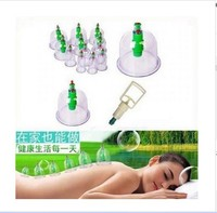 Chinese Medical 12 Cup Vacuum Cupping Portable Body Massage Therapy Free Shipping