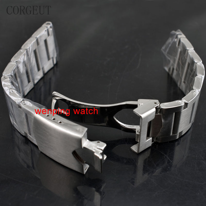 CORGEUT 22MM 316L SOLID STAINLESS STEEL BRACELET WATCH STRAP WATCHES BANDS