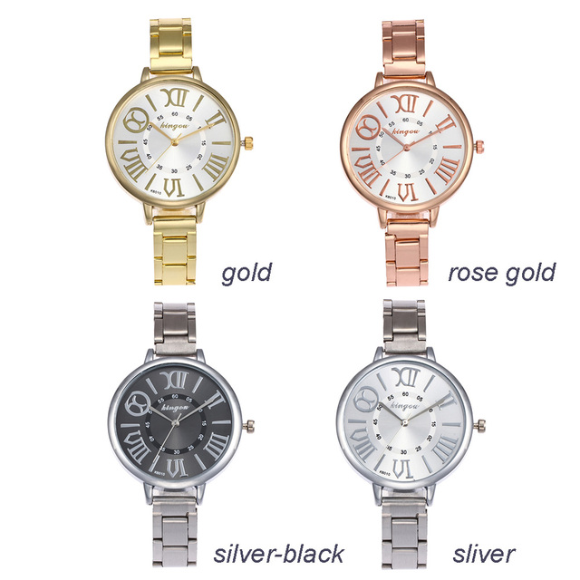 Durable Casual Ultra-thin Fabala Round Case Exquisite Analog Wristwatch Watch 4