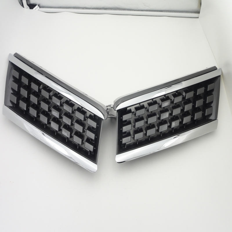 chrome radiator grills Pair Front Bumper Chrome Upper Hood Grills Grilles Cover Insert for Nissan Tiida 2004-2011